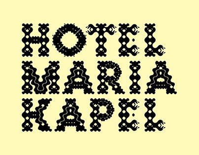 Visual identity & typography design Hotel Maria Kapel