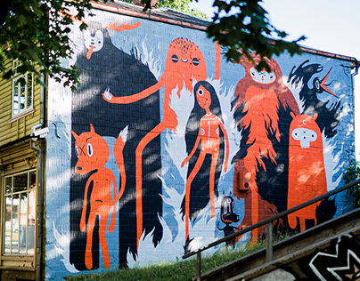 11x17m mural in Tartu during Stencibility festival