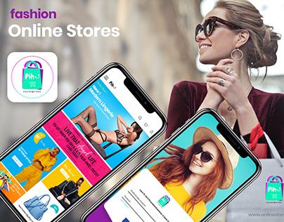 Online Fashion Stores - UI/UX ( Mobile App Pihu )