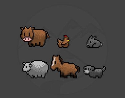 Pixel Art Animals