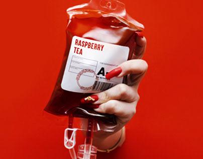 Raspberry tea cover