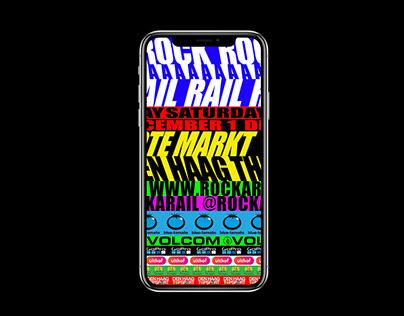 Rock A Rail 2018 — Website + Animation