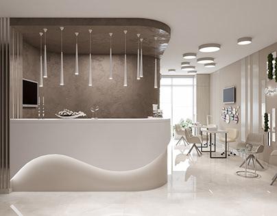 Cosmetology center interior