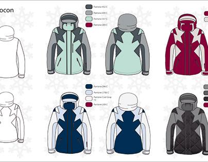 """Projet blouson de ski """"Flocon"""" pour femme"""