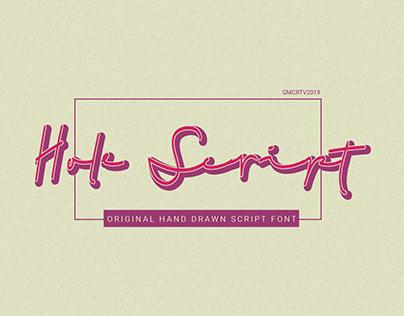 Hole Script Font