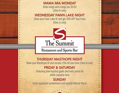 Summit Dine In Menu 2014 GDUSA Award WInner