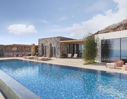 Project SJH Mykonos exterior in Corona 4D