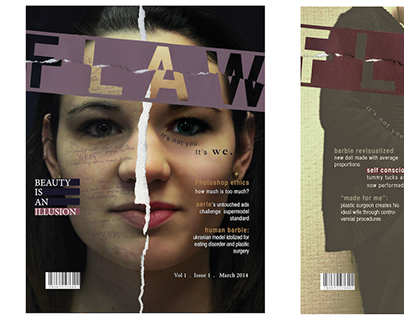 FLAW Magazine Spread + Covers