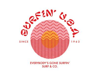Surfin' U.S.A. brand identity