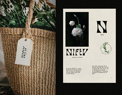Nifty botanic & flower boutique - Branding