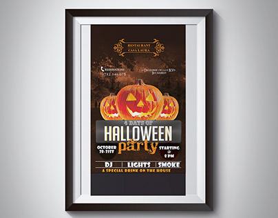 Halloween Poster for a Restaurant