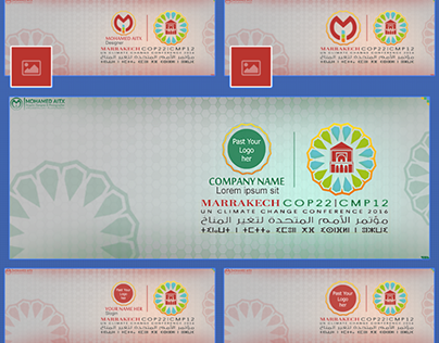 Facebook Timeline Cover COP22 Marrakech 2016 Psd Free