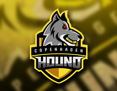 """(SOLD) Gaming E-Sport Mascot For """"Hounds CPH"""" Team"""