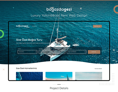 Luxury Yatch & Boat Rent Web UI Design