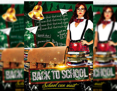 Back To School Vol.3 - Flyer + Facebook Cover