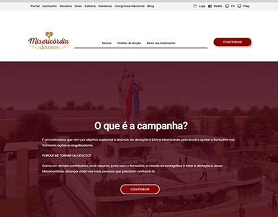 Web site campanha dos devotos