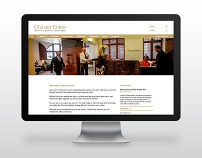 Glaister Ennor - Website design