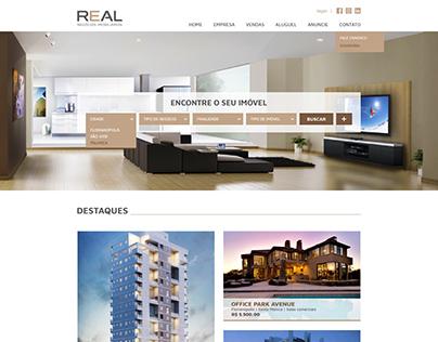 Desenvolvimento website | Real Imobiliária