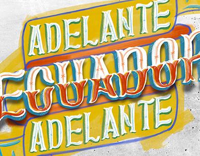 Lettering popular. ECUADOR
