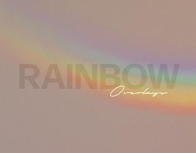 Rainbow Photoshop Overlays