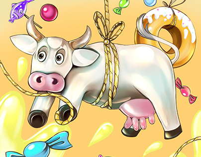 Cow & sweet candies