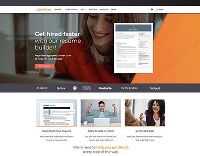 LiveCareer website re-design