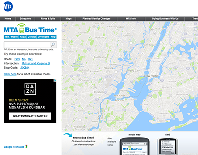 MTABusTime - a real-time bus tracker for NYC - UX & F/E
