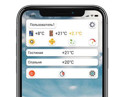 Climate Control AppMockup