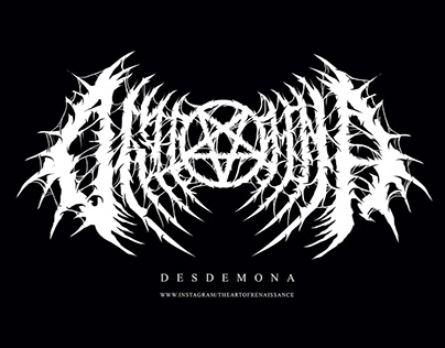 Desdemona Apparel Font Logo