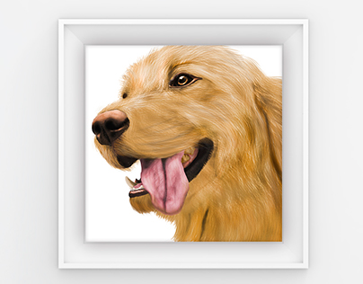 Digital Painting - Golden Retriever