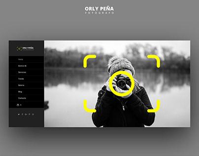 Diseño web Fotografía - Orly Peña Ecuador