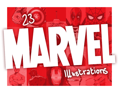 23 MARVEL Illustrations