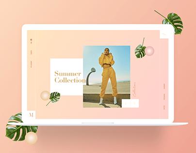 Fashion E-commerce Layout Exploration.