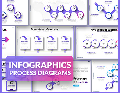 Process diagrams for powerpoint presentation