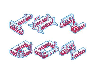 LONDON / Typeface Illustration
