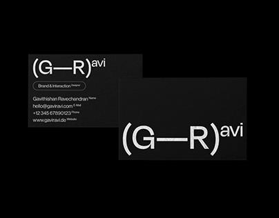 Self-Branding GaviRavi