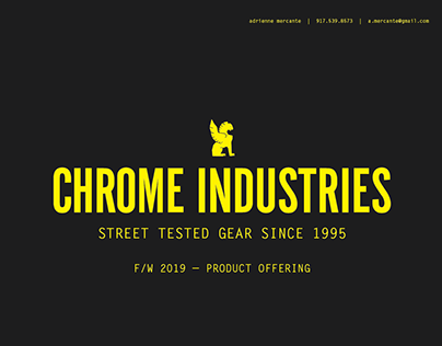 chrome industries - f/w 2019 - product offering