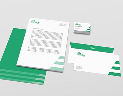 Pronaltur transport, logo and brand identity design