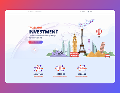 Travel Investment website template