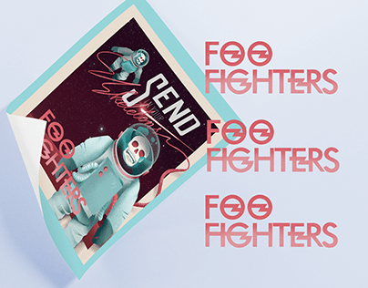 Foo Fighters Calligraphy Design and Illustration