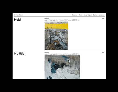 Identity and website design for Joran van Soest