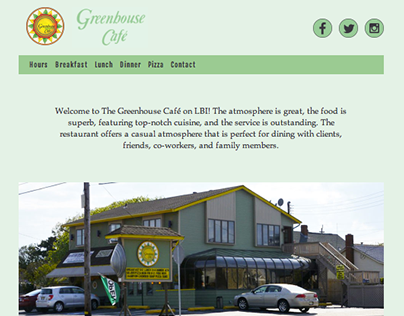 Greenhouse Café Website Redesign