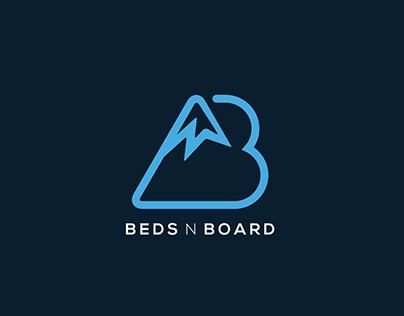 Beds N Board Logo design