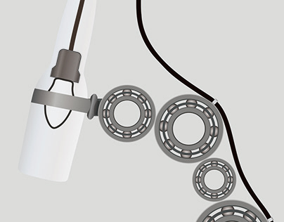Industrial Desk Lamp Concept