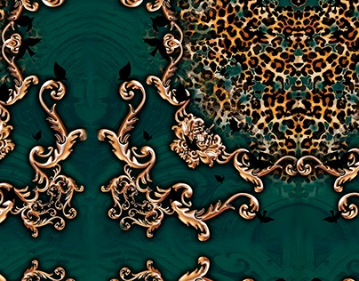Print/ Estampa - green chic leopard