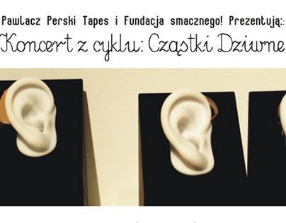 Posters for the Cząstki Dziwne gig series