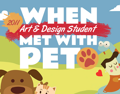 Infographic : When Art & Design Student Met with Pet!