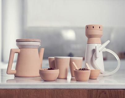 Almaa, hookah tea set
