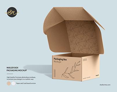 Mailing Box Packaging Mockup Bundle