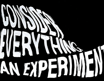 Consider Everything An Experiment Collage Poster